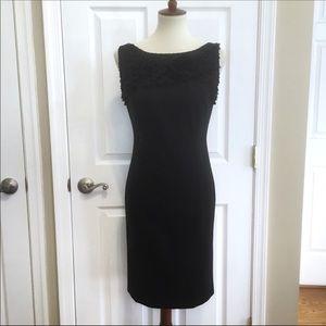 Ann Taylor Black Sleeveless Sheath Dress Size 4